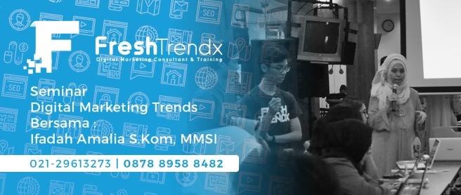 Workshop Internet Marketing di Jakarta Pusat Bersama Ifadah Amalia S.Kom, MMSI