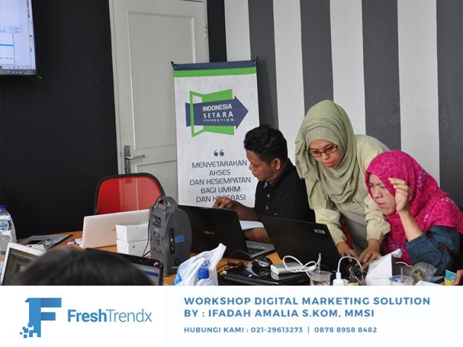 Workshop SEM di Bekasi Selatan Bersama Ifadah Amalia S.Kom, MMSI